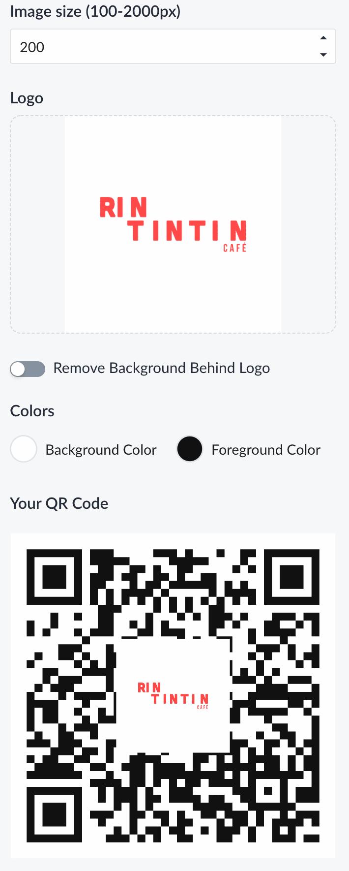 Customizing QR Code
