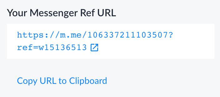 Messenger Ref URL copy