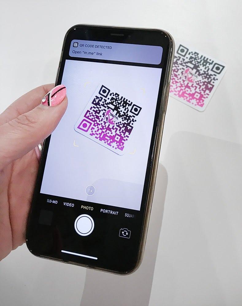 QR code stickers