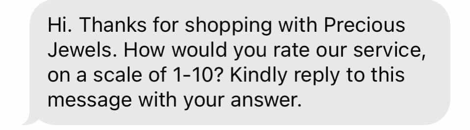 Customer service text