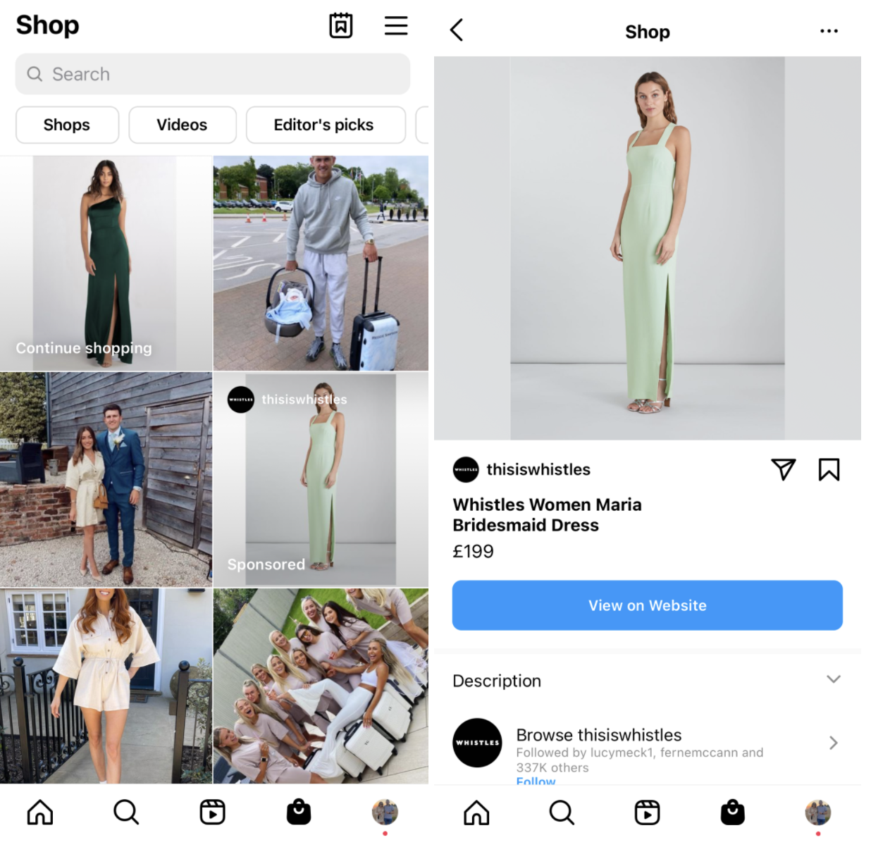 instagram sponsored product listing