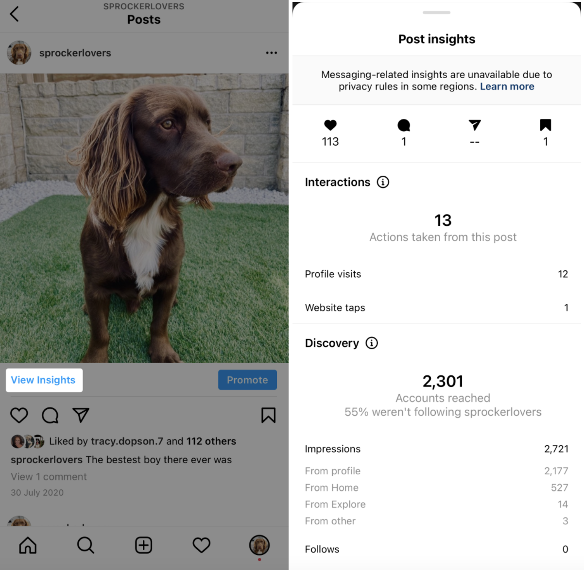how to find instagram post insights
